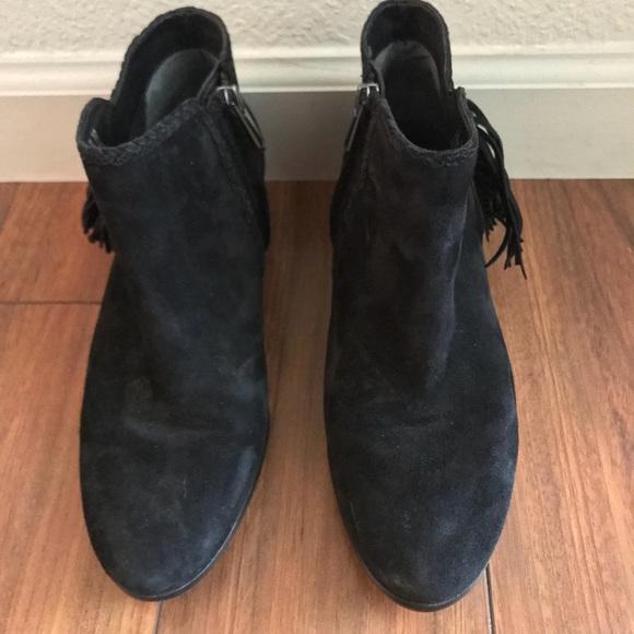 df322f9c6 Sam Edelman suede fringe black Paige Boots sz 7.5.  M 5b79c9e51b16db232eb3f8fb